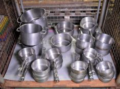 Various Stainless Steel Cooking Pans