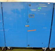 Mobile Cabinet - 2 Door - Blue (one shelf) - L1500 x W910 x H1740mm