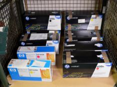 2x HP LaserJet 650A Print Cartridges - Magenta, 2x HP Laserjet 650A Print Cartridges - Bla