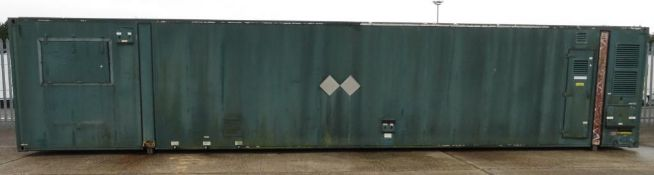 40ft ISO container - internal electrics - 3 Cylinder generator set - hours run 1892