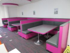 3x Large Restaurant/Canteen Booths, Seat Approximately 8 People.
