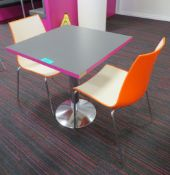Canteen Table & 2 Chairs. Dimensions: 700x000x750mm (LxDxH)