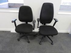 2x Adjustable Office Chairs. Varying Condition.