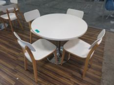 Table & 4 Canteen Chairs.