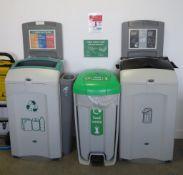3x Various Recycling Bins.