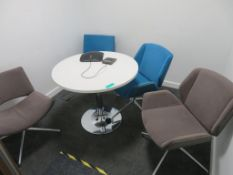 Causal Meeting Table & 4 Chairs. 900mm.