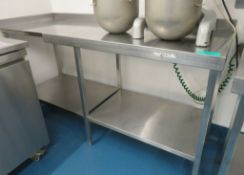 Stainless Steel Prep Table.
