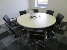 8 Person Conference Table Includes 8 Chairs.