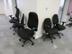 5x Adjustable Office Chairs. Varying Condition.