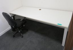 Office Desk & Fully Adjustable Office Chair.