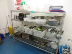 4 Tier Kitchen Rack & Contents. Please See Pictures.