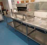 Stainless Steel Prep Table With Alberinox Grill.