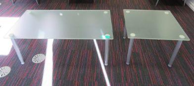 2x Glass Coffee Tables.
