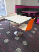 Canteen Table & 2 Chairs. Dimensions: 800x800x750mm (LxDxH)