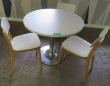 Canteen Table & 3 Chairs.