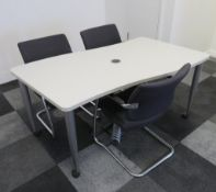 Meeting Room Table & 3 Chairs.