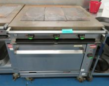 Falcon Chieftain 3 Section Hot Plate Range. 400-415v 3 Phase.