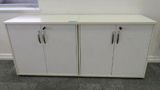2x Office Storage Cupboards.