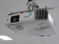 """Epson H682B Projector & 80"""" Smart Board."""