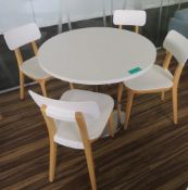 Canteen Table & 4 Chairs.