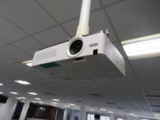"""Sanyo PLX-XU300A Projector & 80"""" Smart Board."""