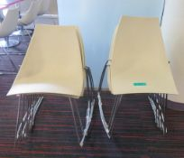 10x Plastic Canteen Chairs.