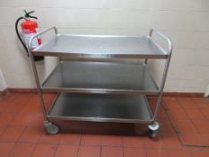 3 Tier Mobile Canteen Trolley.