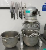 Hobart A120 Mixer With Bowls & Attachments.