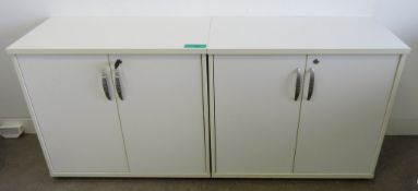 2x Office Storage Cupboards.