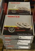 6x Mintex Coated Brake Disc Sets - please see pictures for examples of make and models
