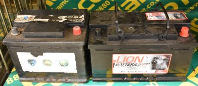 Lion 110 78Ah EN 700 CCA & Magneti Marelli 12v 60Ah 380A Batteries