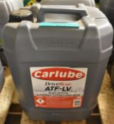Carlube Driveline ATF-LV Multi-Vehicle Automatic Transmission Fluid - 20L
