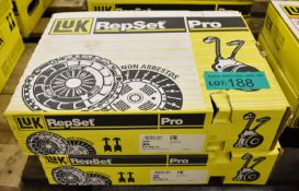 2x LUK Repset Pro Clutch Kits - please see pictures for examples of make and model numbers