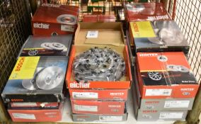Brake Disc Set assortment - Mintex, Bosch, Eicher - please see pictures for examples of models