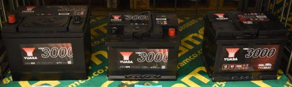 Yuasa YBX3027, Yuasa YBX3075 & Yuasa YBX3031 Batteries