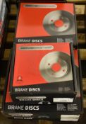 5x Drivemaster Brake Disc Sets - please see pictures for examples of make and model number