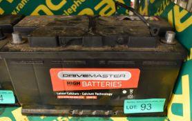 Drivemaster 019 99Ah EN 850 CCA Battery