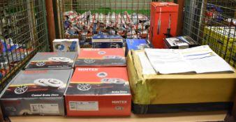 Brake Discs, Alternators, Oil Change Kit, Shock Absorber, Brake Shoes - please see picture