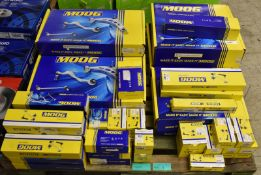 Various Moog Vehicle Spares - axial rods, chassis parts, ball joints, stabiliser links and more