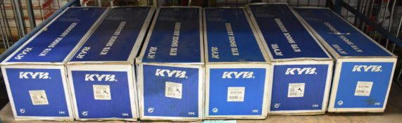 6x KYB Shock Absorbers - please see pictures for examples of make and model numbers