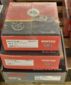 3x Mintex Brake Disc Sets (1x Coated) - please see pictures for examples of make and model