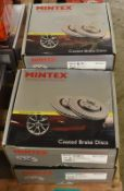 5x Mintex Coated Brake Disc Sets - please see pictures for examples of make and model numbers