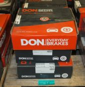 5x Don Brake Disc Sets - please see pictures for examples of make and model numbers