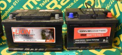 Drivemaster 065 52Ah EN 460 CCA & Lion 100 70Ah EN 620 CCA Batteries