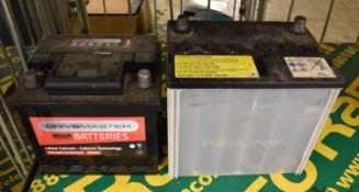 Drivemaster 063 40Ah EN 340 CCA & Panasonic 20HR 48Ah CCA 390A D23(JIS) Batteries