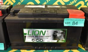 Lion 100Ah 750cca Leisure Battery