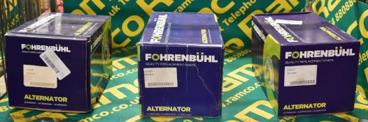 3x Fohrenbuhl Alternators - please see pictures for examples of make and model numbers