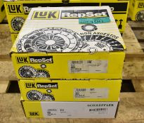 3x LUK Clutch Kits - please see pictures for examples of make and model numbers