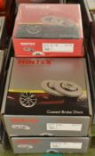 6x Mintex Brake Disc Sets (4x Coated) - please see pictures for examples of make and model