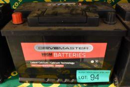 Drivemaster 082 72Ah EN 610 CCA Battery